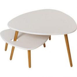 Стол журнальный Калифорния мебель Стилгрей белый