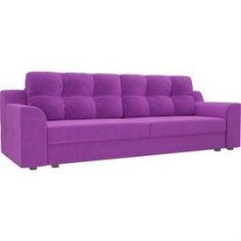 Прямой диван Лига Диванов Сансара микровельвет фиолетовый