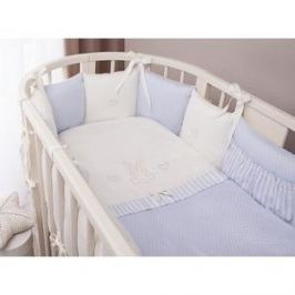 Комплект в кроватку Perina Нежена Oval 7 предметов Голубой (КПНО7-0892НО7.4-125х75)
