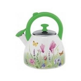 Чайник эмалированный со свистком 2.5 л Appetite Примавера (FT19-PR)