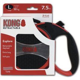 Рулетка KONG Explore L лента 7,5м красная для собак до 50кг