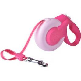 Рулетка Fida Mars лента 5м розовая для собак мелких пород до 15кг