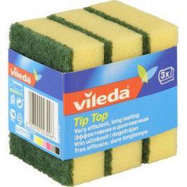 Губка VILEDA Tip-Top (Тип-Топ) классическая, для посуды 3 шт