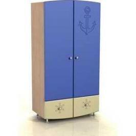 Шкаф для одежды Compass Капитошка ДК-1 синий/ваниль шагрень
