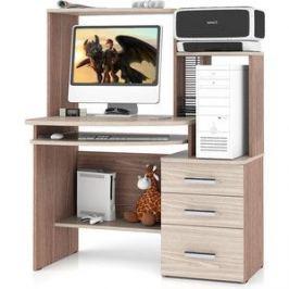 Стол компьютерный Мебельный двор С-МД-СК3 ясень шимо светлый/ясень шимо темный