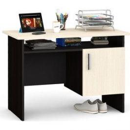 Стол письменный однотумбовый с дверью Мебельный двор С-МД-1-01 венге/дуб
