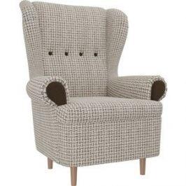 Кресло АртМебель Торин Корфу 02 подлокотники микровельвет коричневый