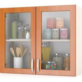 Шкаф-витрина Мебельный двор Мери ШВС800 дуб/вишня