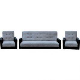 Комплект Экомебель Лондон рогожка серая (диван + 2 кресла)