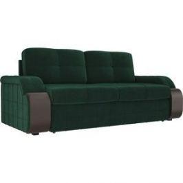 Прямой диван Лига Диванов Николь велюр зеленый