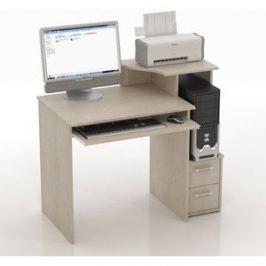 Стол компьютерный ТД Ная Прямой КС-10 Колибри дуб беленый