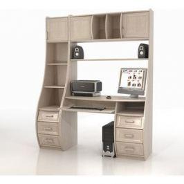 Стол компьютерный ТД Ная Прямой КС-1К Беркут+СФ-433 дуб беленый