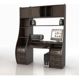 Стол компьютерный ТД Ная Прямой КС-1К Беркут+СФ-433 венге