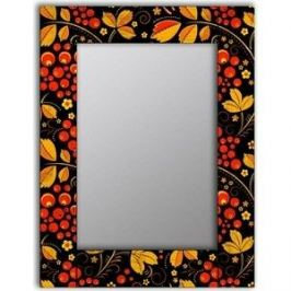Настенное зеркало Дом Корлеоне Хохлома 65x65 см