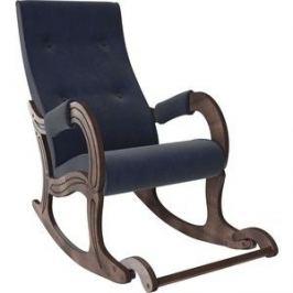 Кресло-качалка Мебель Импэкс Модель 707 орех антик, ткань Verona denim blue