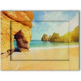 Картина с арт рамой Дом Корлеоне Песчаные скалы 70x90 см