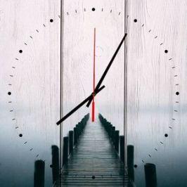 Настенные часы Дом Корлеоне Мостик в тумане 40x40 см
