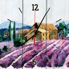 Настенные часы Дом Корлеоне Лавандовое поле 40x40 см
