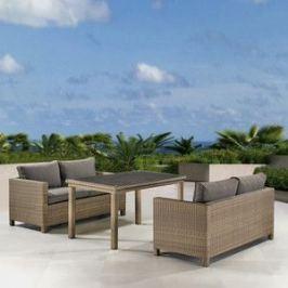 Комплект плетеной мебели Afina garden T256B/S59B-W65 light brown