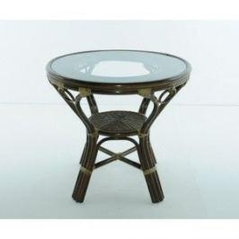 Стол со стеклом Vinotti 02/09A олива