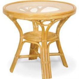 Стол со стеклом Vinotti 02/09A мед