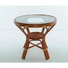 Стол со стеклом Vinotti 02/09A коньяк