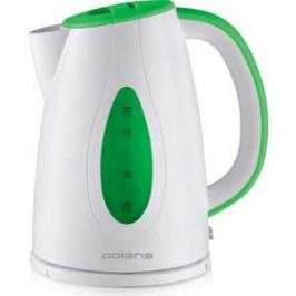 Чайник электрический Polaris PWK 1752C, зеленый/белый