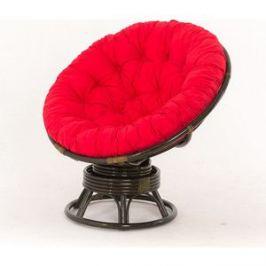 Кресло-качалка Vinotti PAPASAN 23/01В олива красная подушка