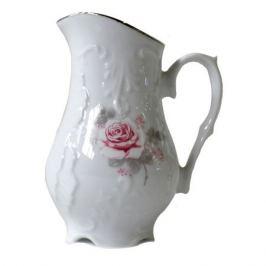 молочник Рококо Бледная роза отводка платиной 200мл фарфор