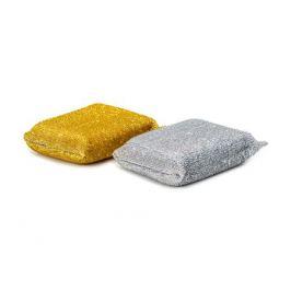 набор губок деликатных поверхностей SOL, 2 шт, 110х75х27 мм, порлон, полипропиленовая оплетка
