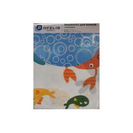 занавеска для ванной OFELIS Морские животные 180х180 см, полиэстер