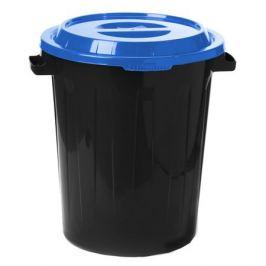 бак мусорный с крышкой, 90 л, пластик, в ассортименте
