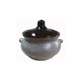 горшочек для запекания Мрамор Лакомка, 0,5 л, 13 см, керамика, с крышкой