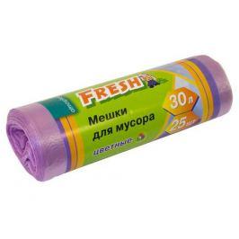 мешки для мусора FRESH 30 л, 25 шт, 45х56 см, 6 мкм, цветные, полиэтилен