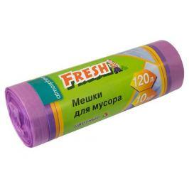 мешки для мусора FRESH 120 л, 10 шт, 68х109,5 см, 12 мкм, цветные, полиэтелен