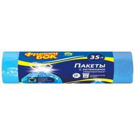 пакеты для мусора ФРЕКЕН БОК LD 35 л, 15 шт, с затяжкой, синие
