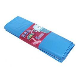 пакеты для мусора 5 шт, 240 л, 105х132 см, 43 мкм, голубые, полиэтилен