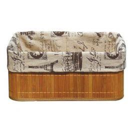 корзина складная, BLB-09-2, 320х230х140 мм, натуральная, бамбук, лен