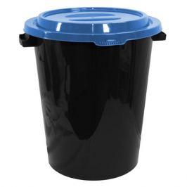 бак мусорный с крышкой, 40 л, пластик, в асс-те