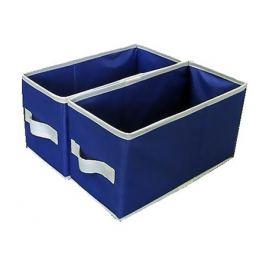 набор ящиков складных под органайзер 2 шт. 140х300х165мм синий