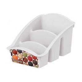 емкость для специй БЫТПЛАСТ с декором, 22,3х15х12 см, пластик
