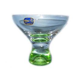 набор креманок Самба 6 шт, 330 мл, стеклянный с цветным дном
