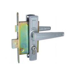 ручка дверная с замком ЗЕНИТ ЗВ, 4-3,01, никель