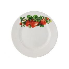 тарелка десертная Клубника, 17см, фаянс