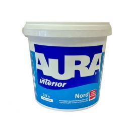 краска в/д AURA NORD база А д/стен и потолков 0,9л, арт.4607003915179