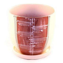горшок керамический с поддоном Скерцо, 4.7 л, коричневый