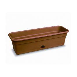 ящик балконный с нижним поливом, 80 см, пластик, цвет: терракот