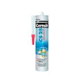 затирка-герметик CERESIT CS 25 силиконовая 280 мл серая, арт.1095898