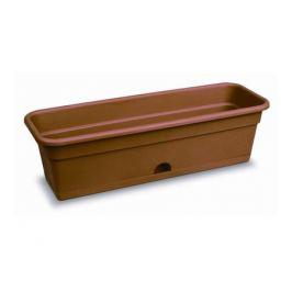 ящик балконный с нижним поливом, 60 см, пластик, цвет: терракот