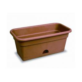 ящик балконный с нижним поливом, 40 см, пластик, цвет: терракот